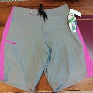 Ocean current board shorts new with tag gray pink